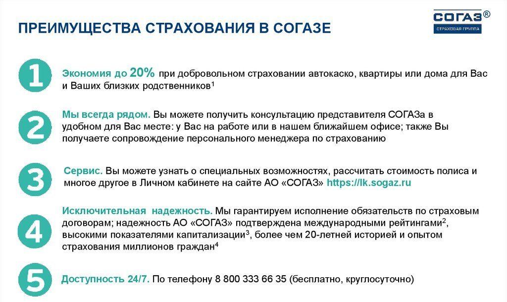 """Страховка ОСАГО в СК """"Согаз"""", преимущества"""