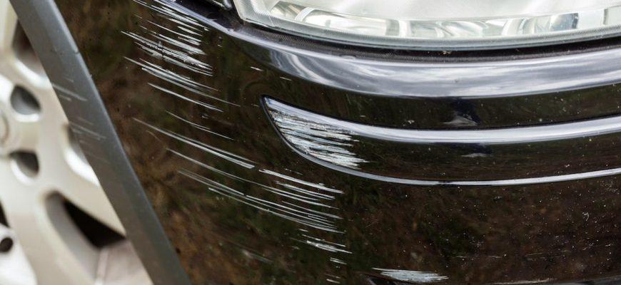 использование полиса КАСКО при царапине на машине