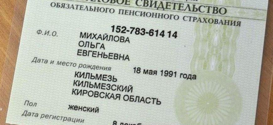 паспорт и снилс