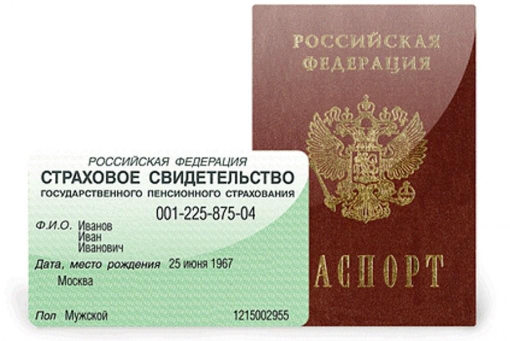 паспорт и снилс одного человека