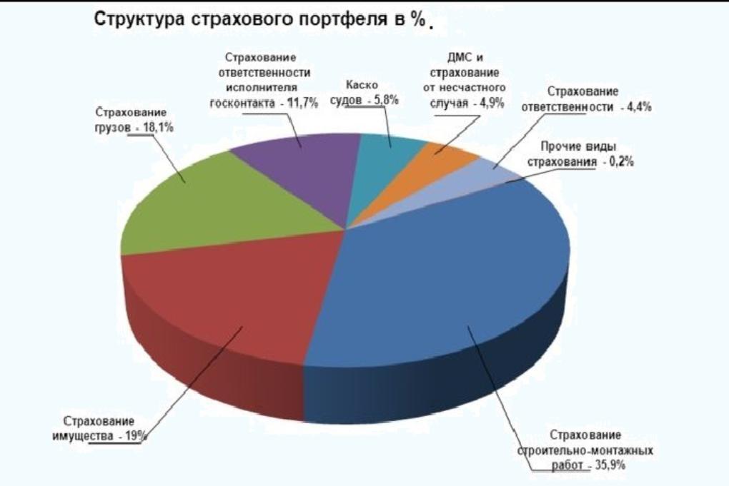 структура страхового портфеля